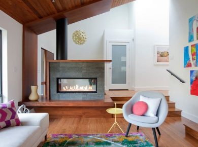 50+ Modern Fireplace Designs &Amp; Ideas For 2021 - Double Sided Fireplace