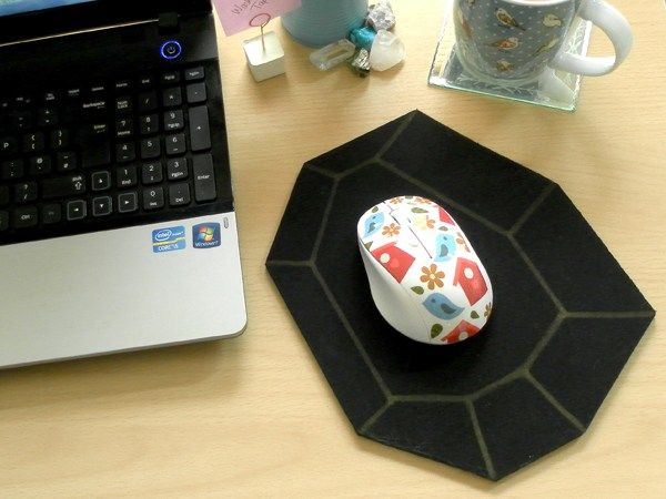 31 Diy Mousepad Ideas To Spruce Up Your Computer Desk - Diy Geometric Mouse Pad