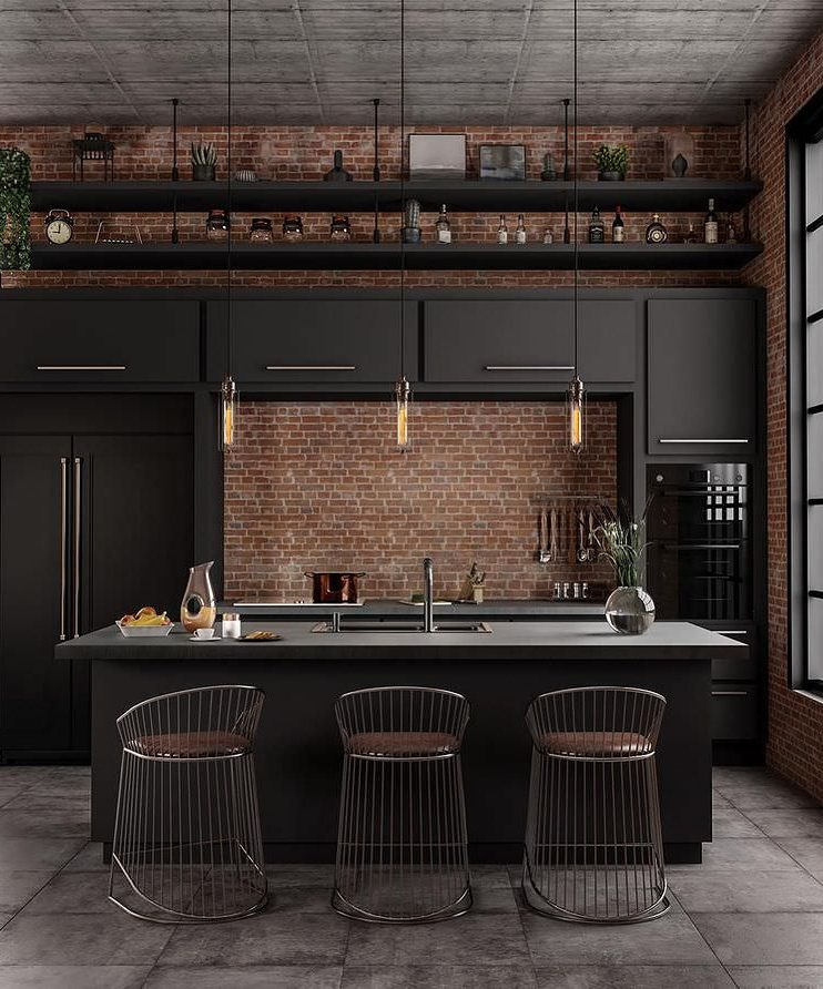 29 Beautiful Black Kitchen Cabinet Ideas To Try In 2021