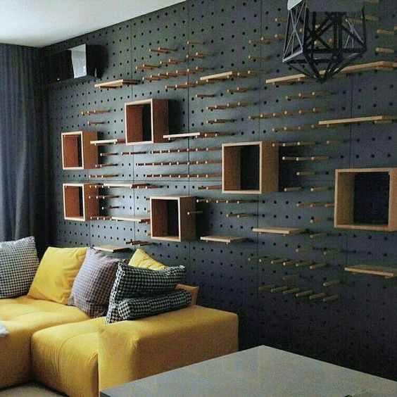 Be Unique by Installing Pegboard Walls