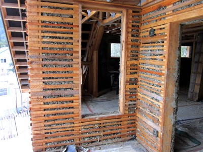 Reduce Noise With Lath and Wood Chip Clay