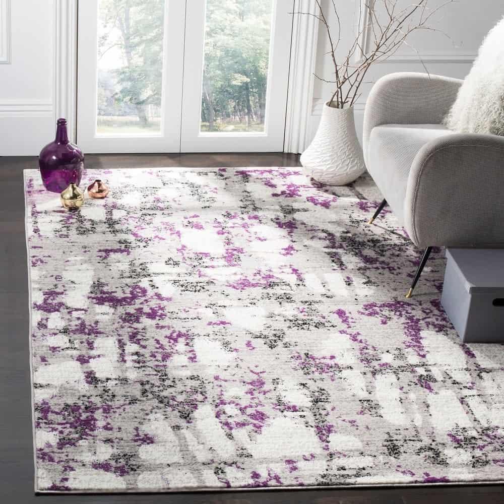 Purple Contemporary Rug