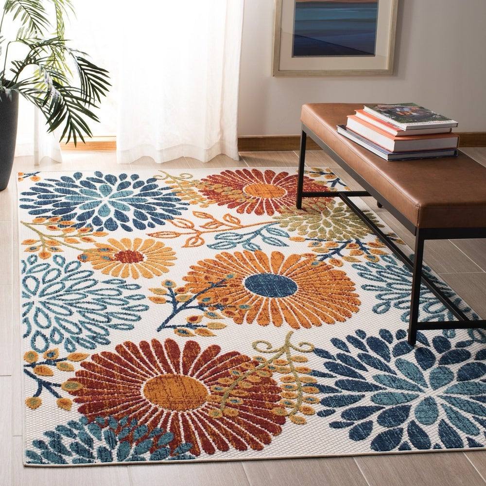 Multi-Colored Floral Rug