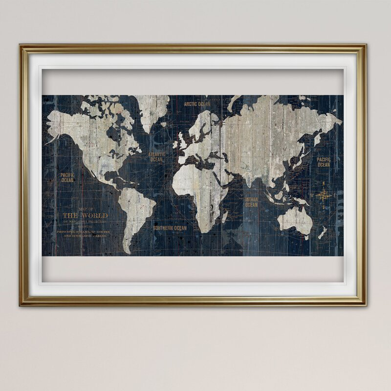 Frame a Map Above Your Couch