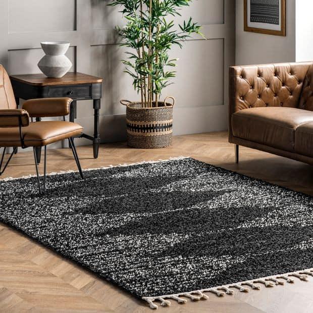 Moroccan Black Rug