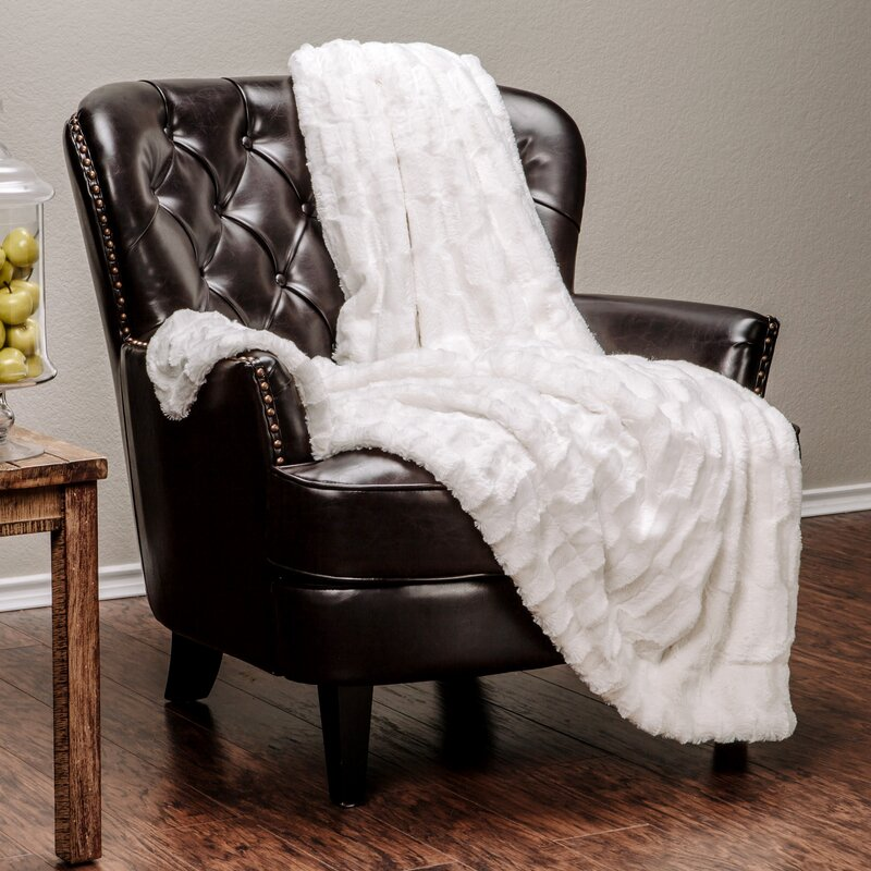 Drape On a Textured Throw Blanket