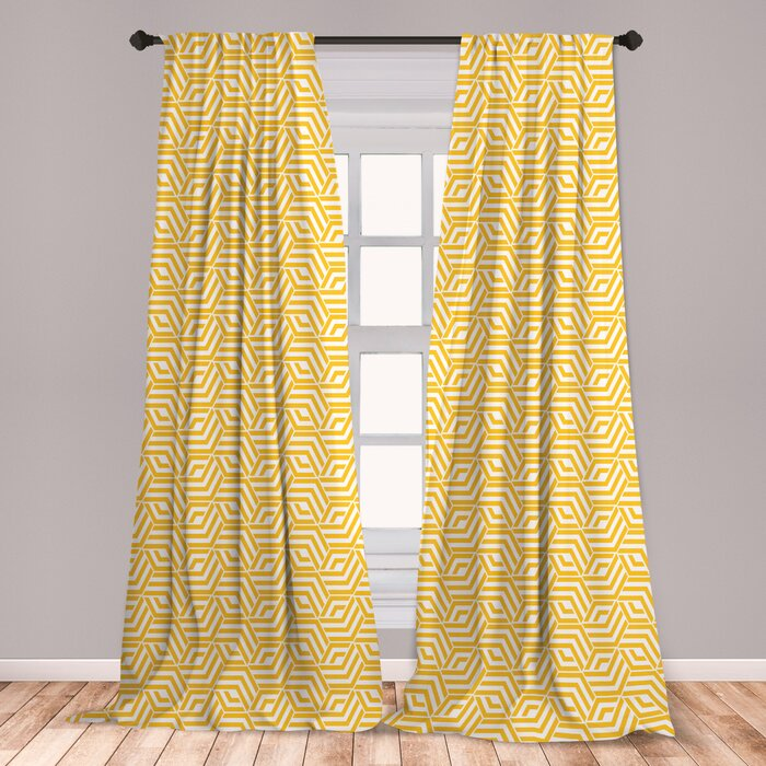 Bold geometric curtains