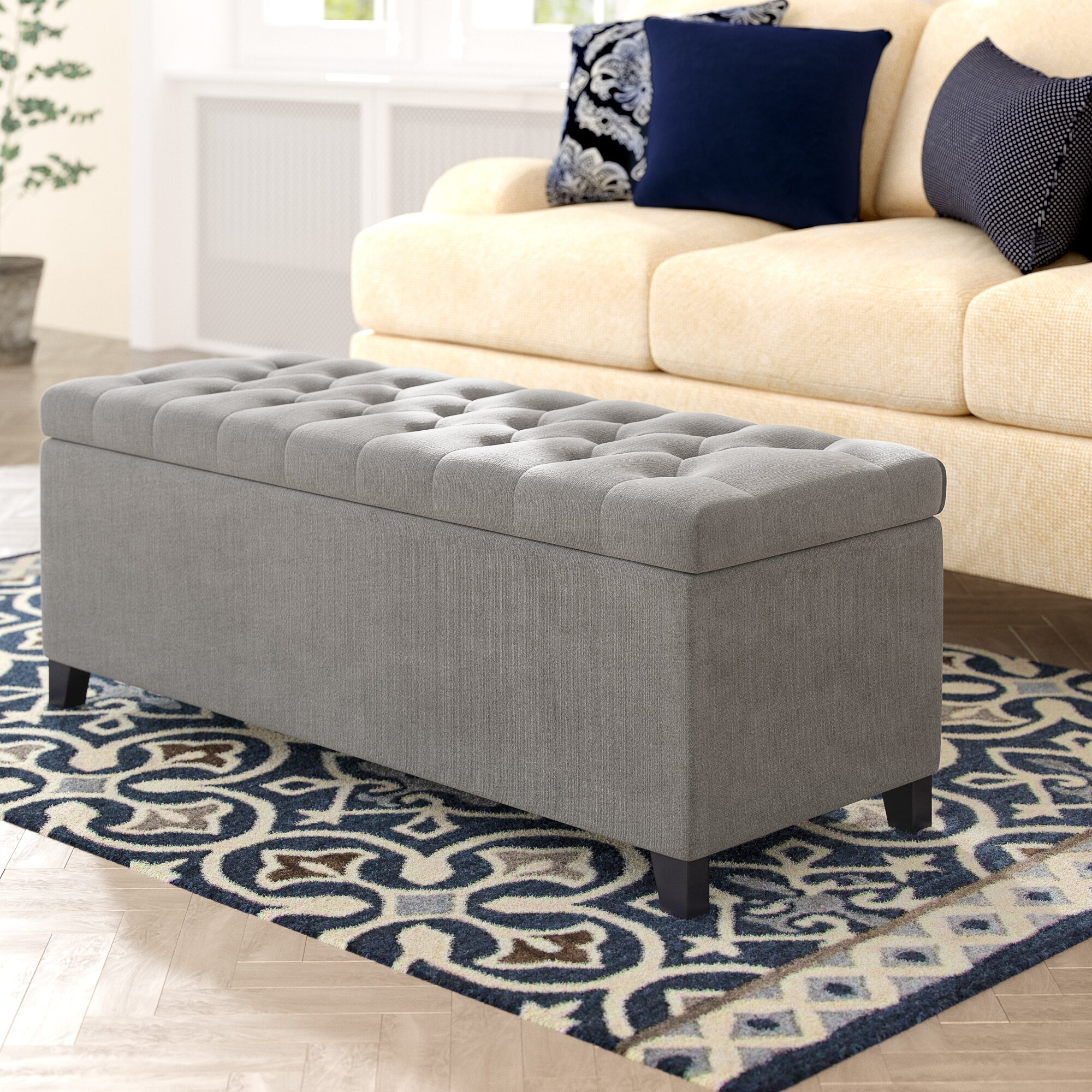 Place an Ottoman In Front of Your Couch
