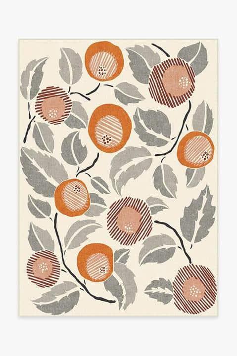 Floral Patterned Rug