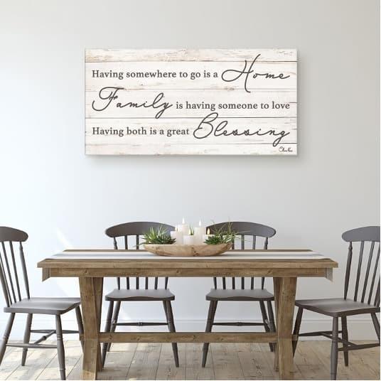 Hang a Family Appreciation Frame