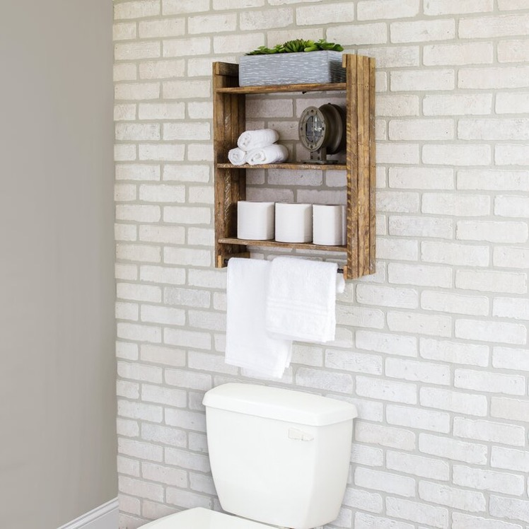 Install a Pure Cedarwood Toilet Shelf