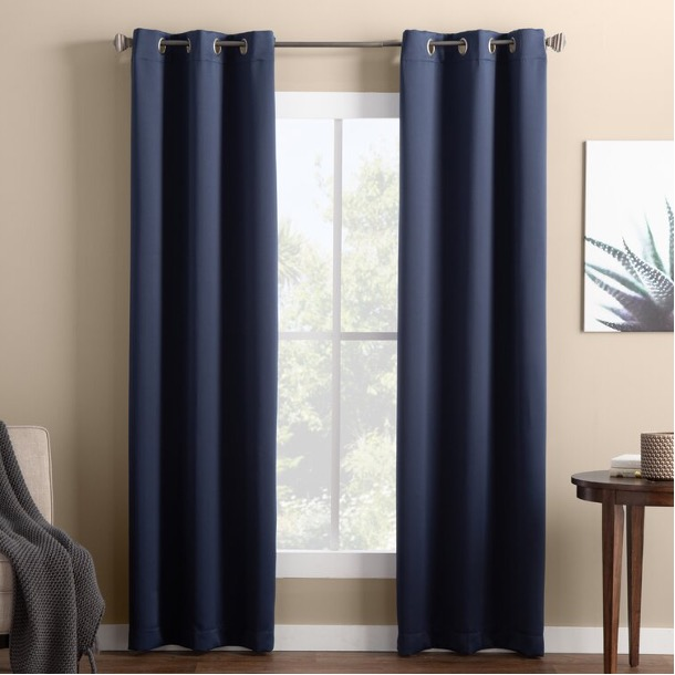 Try Classic, Solid-Colored Blackout Curtains