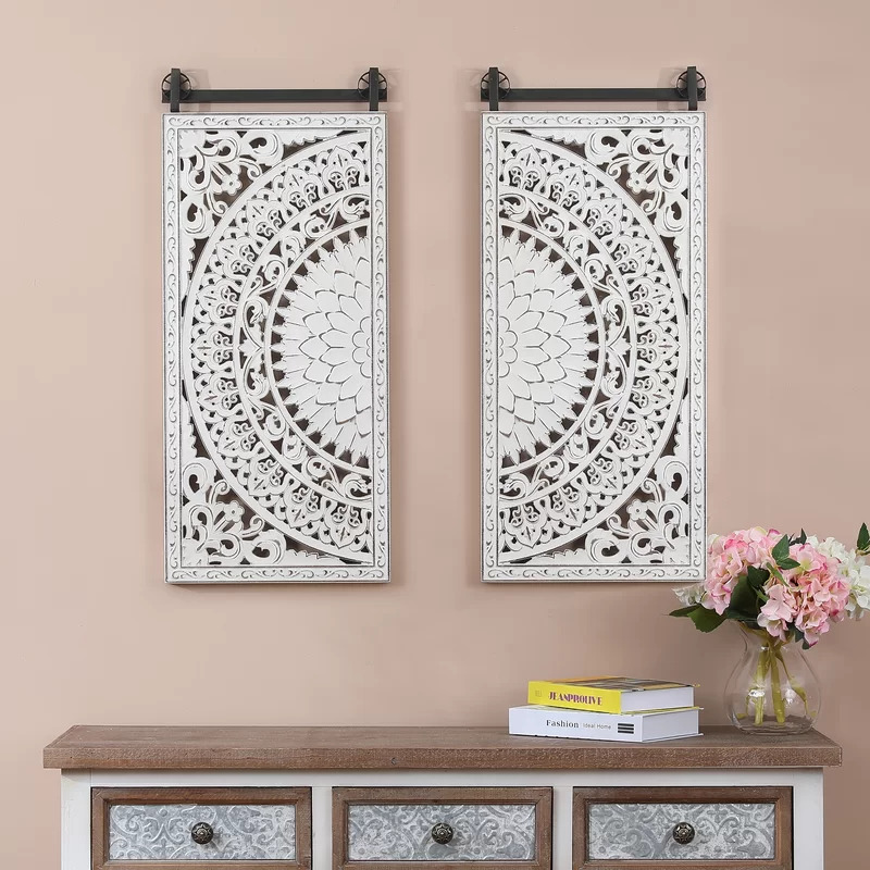Create a Symmetrical Look With Floral Carved Wall Decor