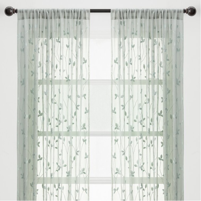 Add Texture with Embroidered Curtains