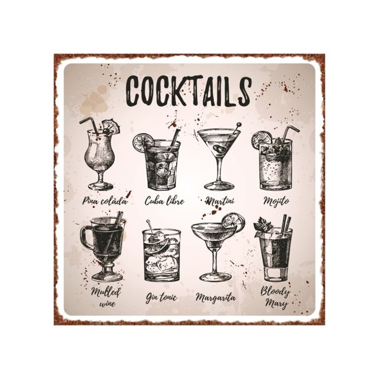 Dress Up Your Wall with Vintage Cocktail Wall Décor