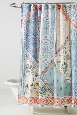 Liven It Up with Bright, Patterned Shower Curtains