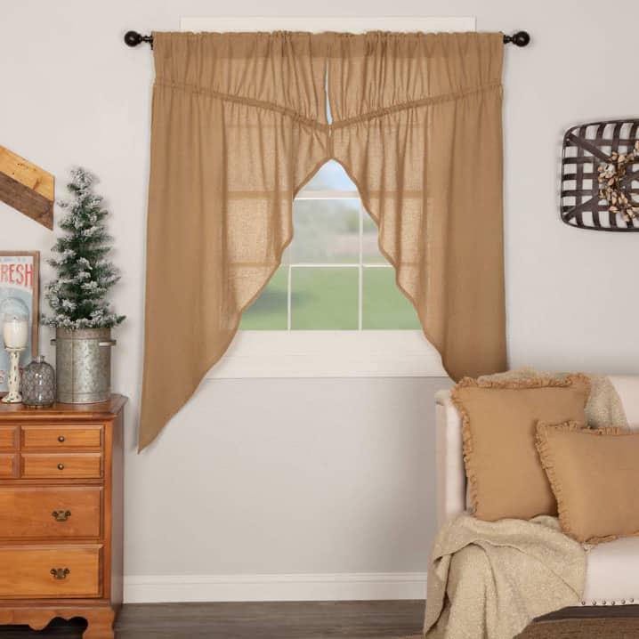Show off Some Short Burlap Curtains