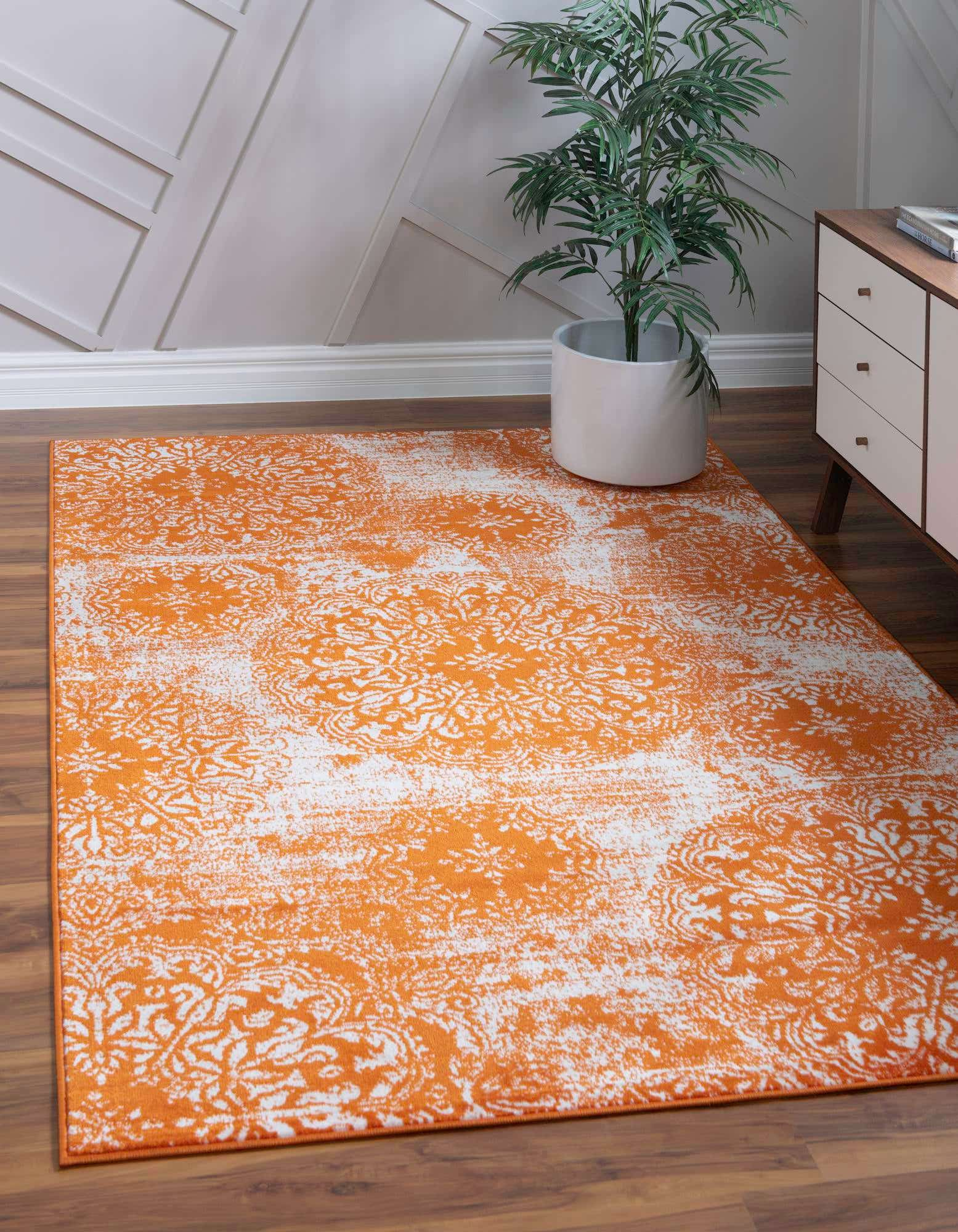 Incorporate Playfulness with an Orange Area Rug