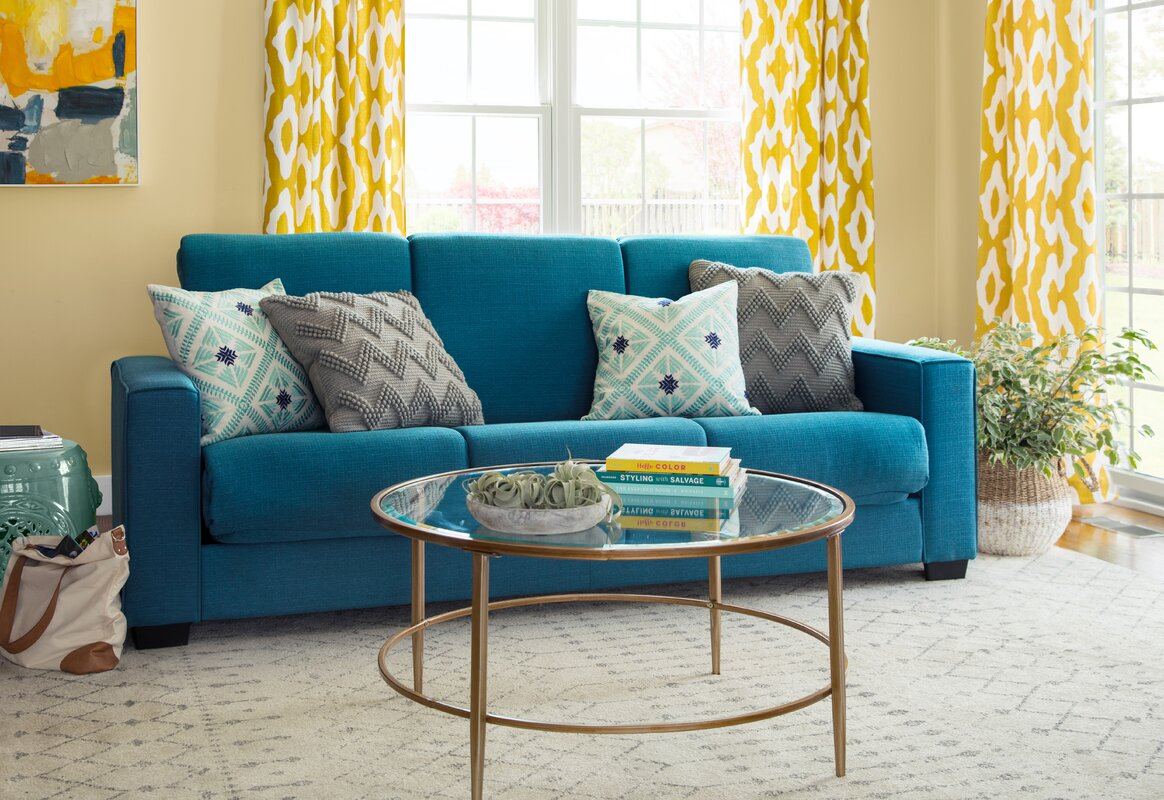 This Exciting Pattern Complements Pale Yellow Walls Beautifully