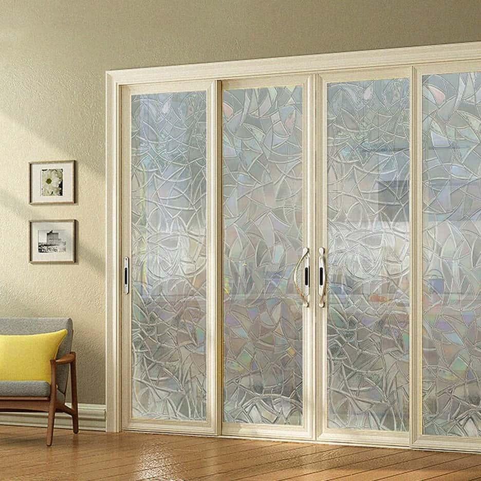 Stick On a Sliding Door Glass Decal