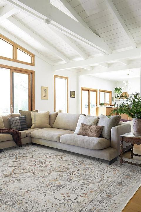 Extend the Rug to Leave Room For Your Accent Table