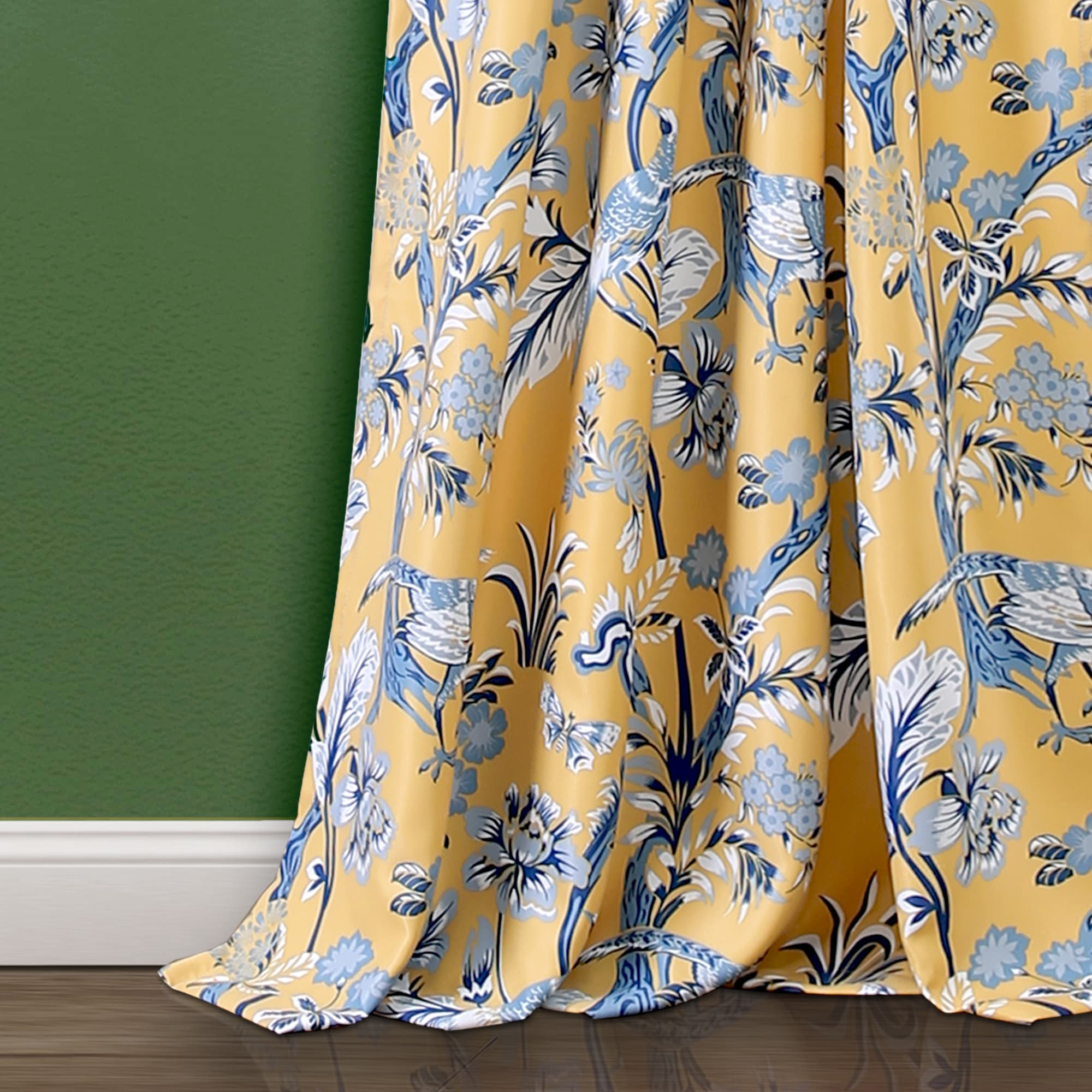 These Floral Curtains Light Up the Entire Room
