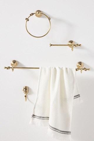 Shop for a Golden Bumblebee Towel Bar Set