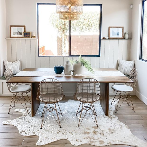 Go Eclectic with Faux Cowhide Area Rug