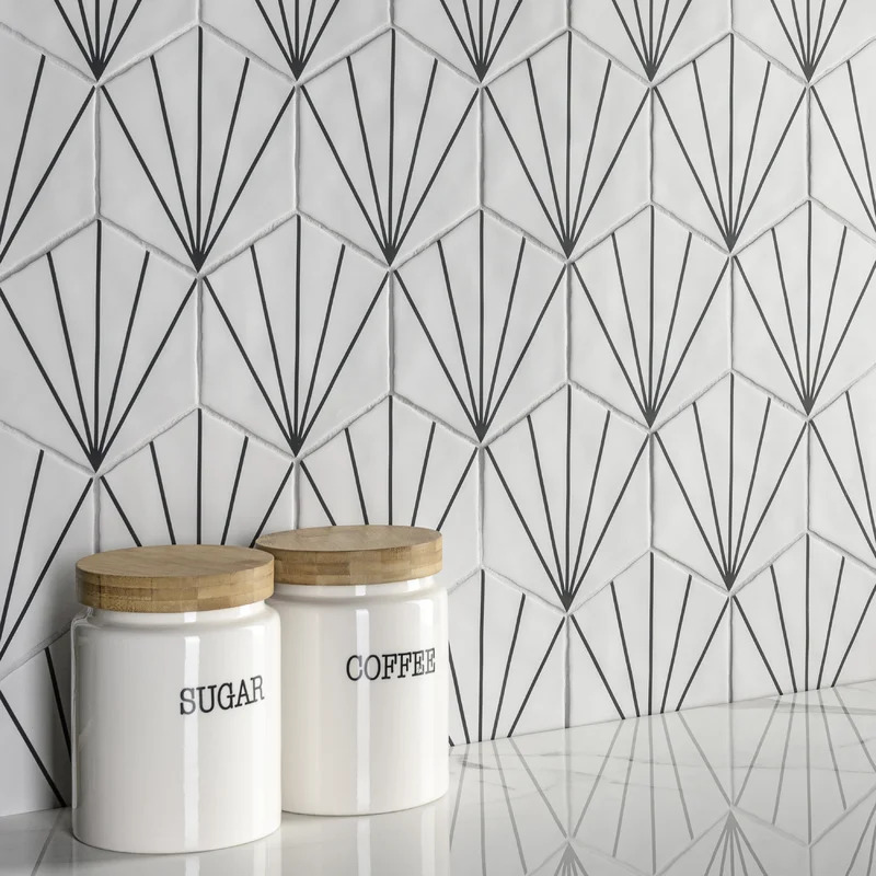 Make Your Kitchen Stand Out With a Starburst Backsplash