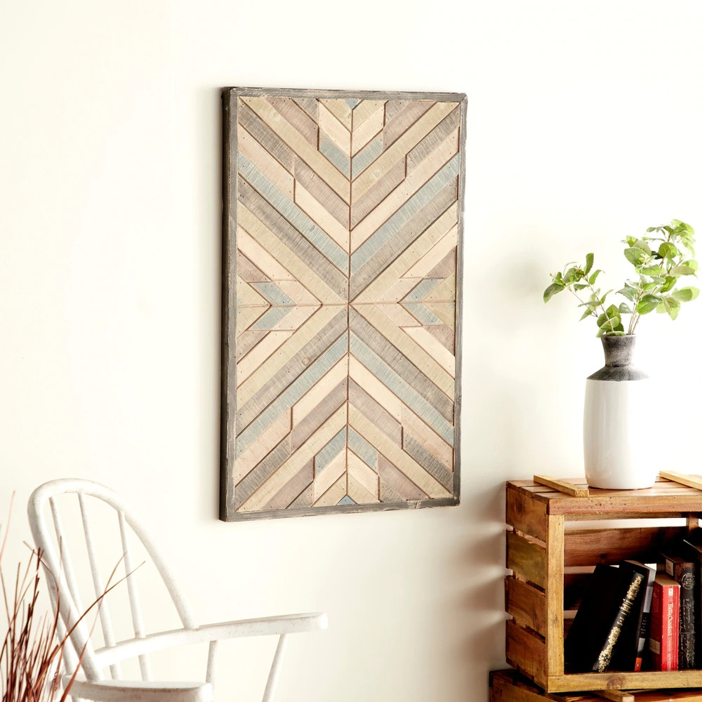 Use Wooden Wall Art for a Rustic-Looking Closet