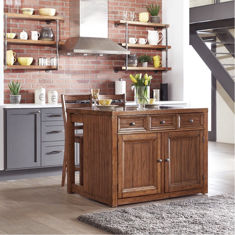 Add a Solid Wood Kitchen Island