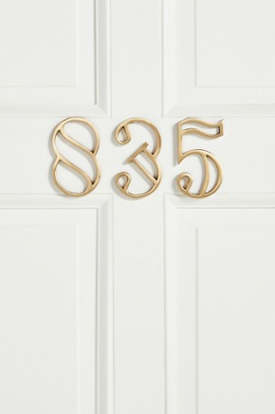 Draw Attention to Your Address with Number Hangings