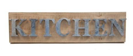 """Maintain a Minimalist Vibe with a Simple """"Kitchen"""" Sign"""