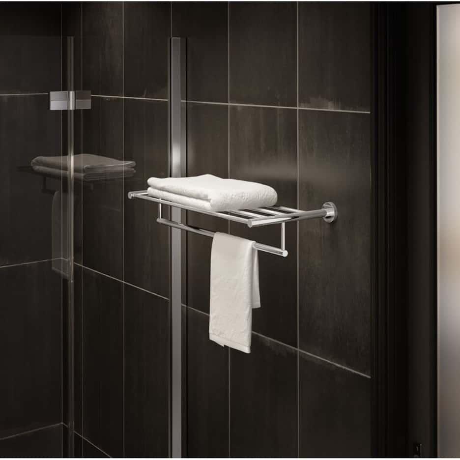 Mount a Metal Shelf with Towel Bar