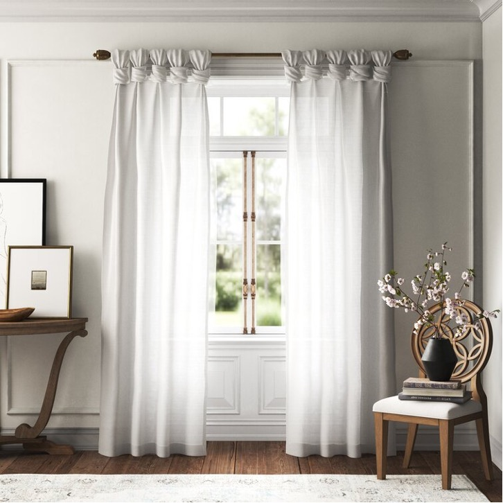 Try Out Knotted Farmhouse Style Drapes