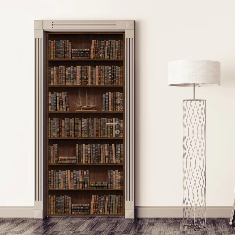 Make Your Closet Look Like a Bookshelf With a Bookshelf Decal
