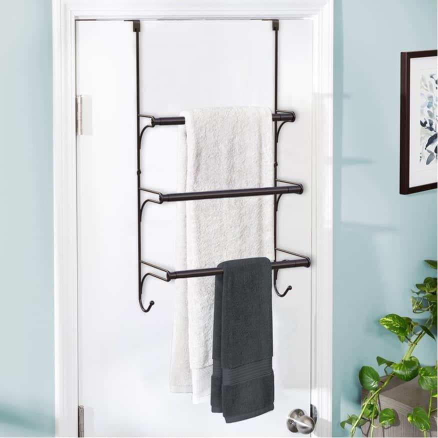 Save Space with Over-the-Door Towel Racks