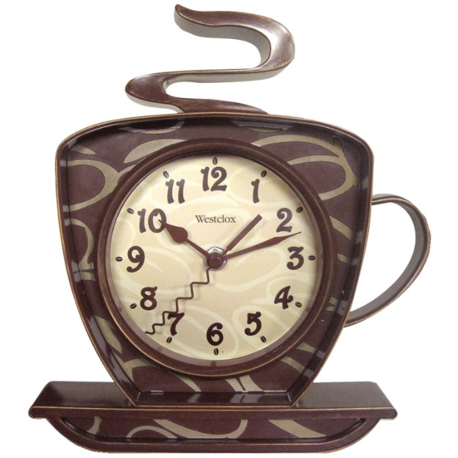 Always Stay on Track with this Vintage Coffee Clock