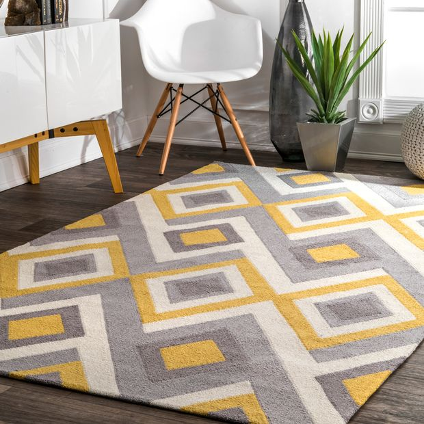 Lift your Space with Radiating Yellow Area Rug