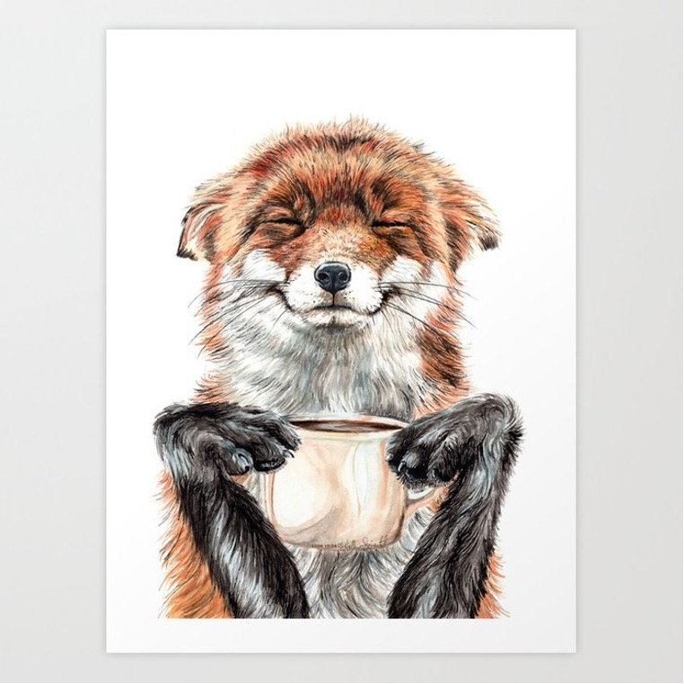 Smile Along with the Fox in This Coffee Poster