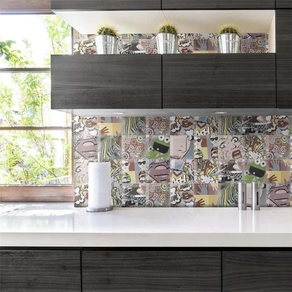 Go For a Unique Look With a Comic Book-Inspired Backsplash