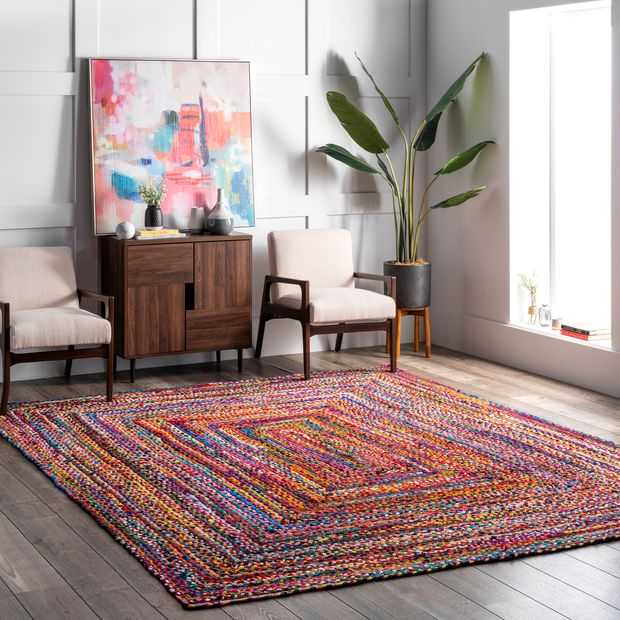 Throw Some Color with a Multi-Braided Area Rug