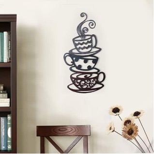 Install a Coffee Cup Themed Wall Ornament