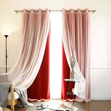 Layer Sheer Curtains Atop Solid-Colored Ones