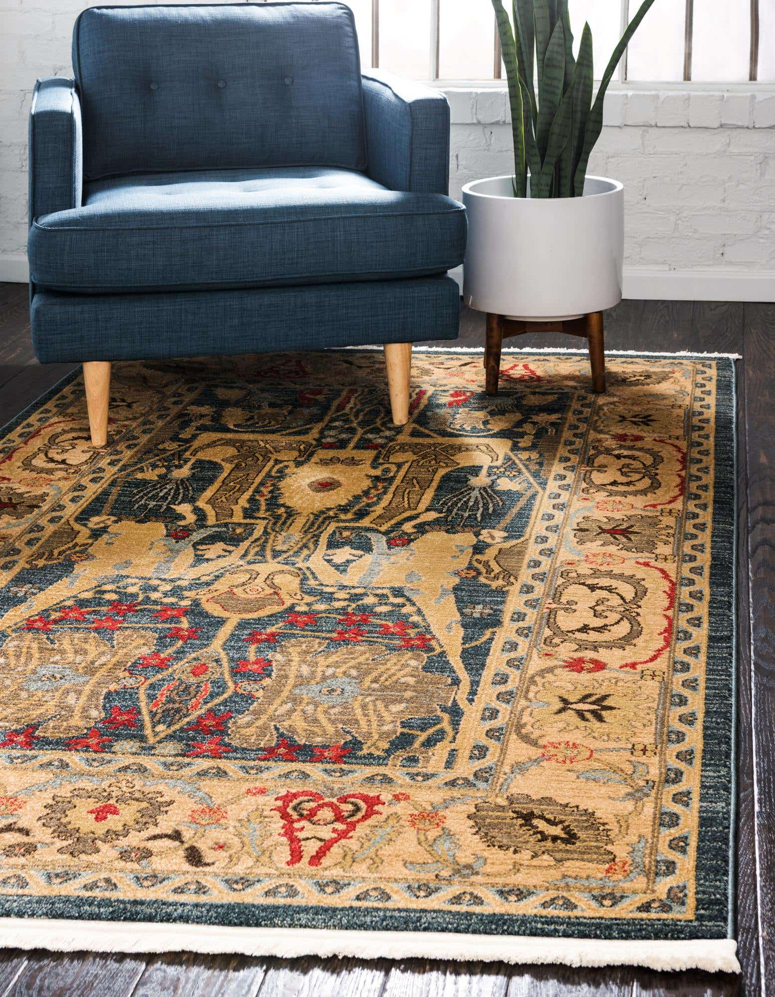 Add a Rug Storyline to your Dark Wood Floors