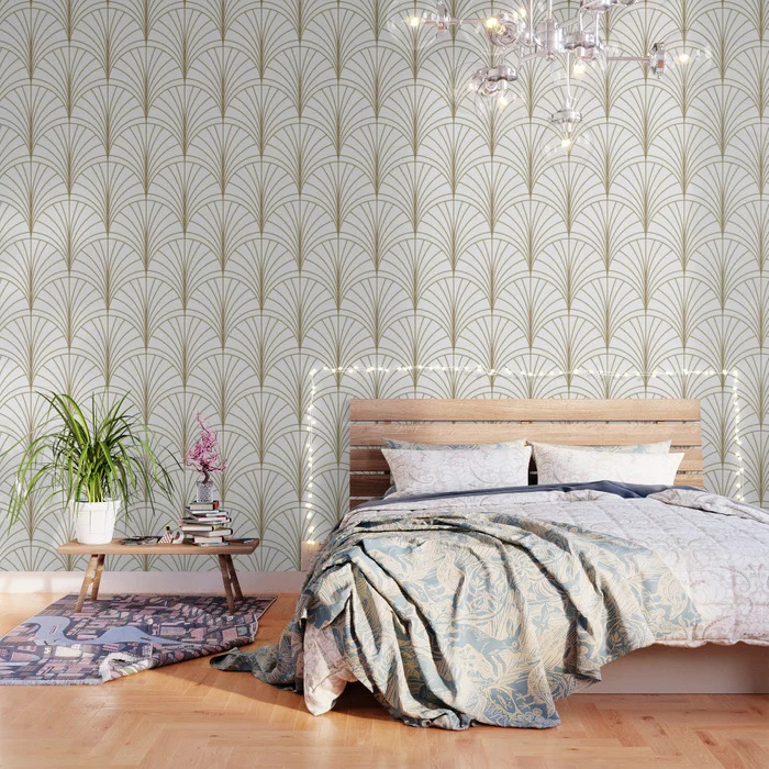 Add a Touch of Luxury to Your Closet With Golden Wallpaper
