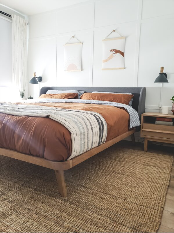 Go For a Large Rug to Cover the Bed