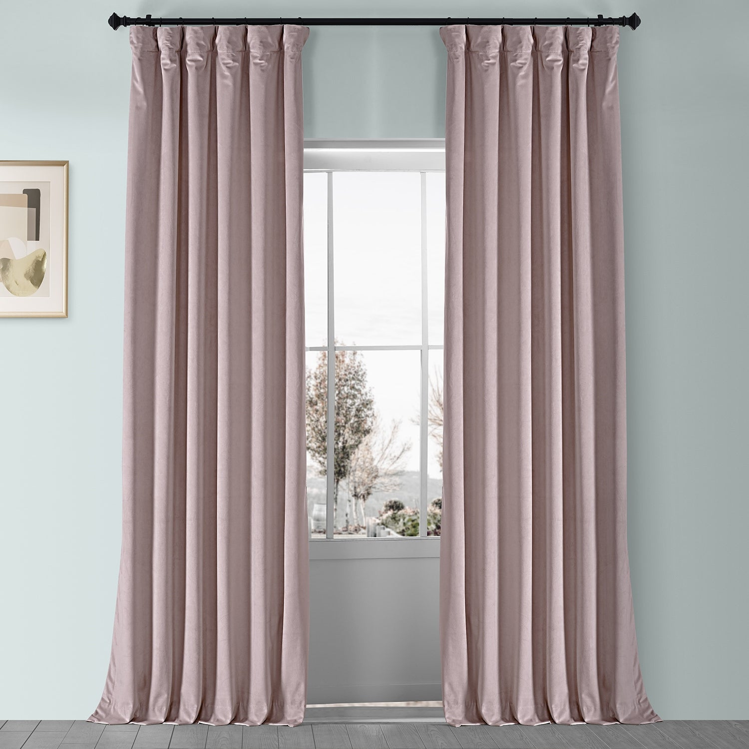 Dusty Pink Curtains for a Toned Down Look
