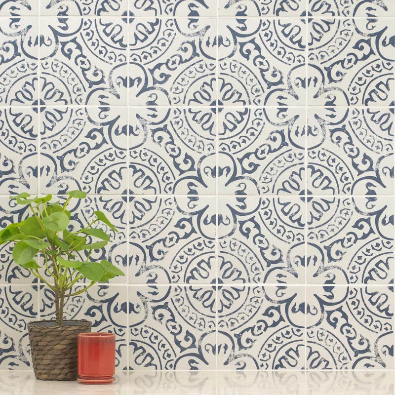 Use a Patterned Backsplash for an Artsy Flair