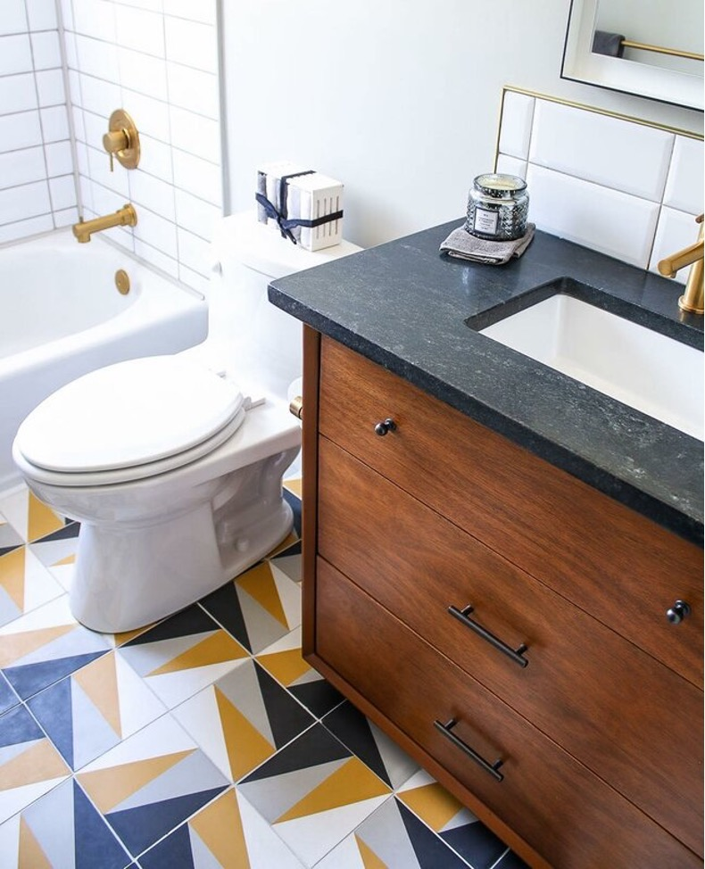 Install Bold, Colorful Tiles